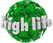 High Life Marijuana Sphere Ball Stoned Drug Use — Stock Photo
