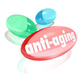 Anti-Aging Pills Capsules Natural Organic Vitamin Youth — Stock Photo