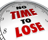No Time to Lose Clock Words Deadline Countdown — Stock Photo