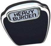 Heavy Burden Scale Words Difficult Task Duty — Stock Photo