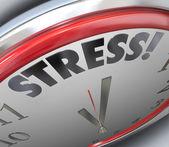 Stres hodiny čas termínu odpočítávání alarmu připomínka — Stock fotografie