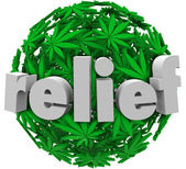 Relief Medical Marijuana Comfort Prescribe Treatment — Foto Stock