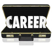 Career Word Black Briefcase New Job Working Position — Stock Photo