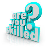 Are You Skilled Words Question Training Abilities — Stock Photo