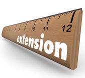 Extension Ruler Measure More Length Added Time — Stock Photo