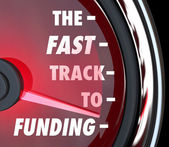 The Fast Track to Funding Speed Quick Funded Start Up — Stock Photo