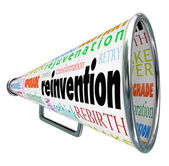 Reinvention Bullhorn Megaphone Redo Restart Rebuild — Stock Photo