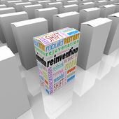 Reinvention One New Product Box Best Competitive Advantage — Stock Photo
