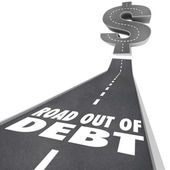 Road Out of Debt Financial Problem Money Help — Stock Photo
