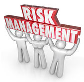 Risk Management People Team Lift Words Limit Liability — Stock Photo