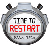 Time to Restart Stopwatch Timer Redo Refresh Reinvent — Stock Photo