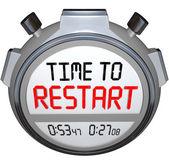 Time to Restart Stopwatch Timer Redo Refresh Reinvent — Stock Photo
