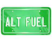 Alt Fuel Alternative Power Energy Green LIcense Plate — Stock Photo