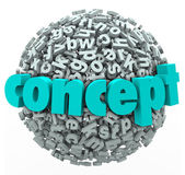 Concept Word Letter Ball Sphere Idea Development — Stock Photo