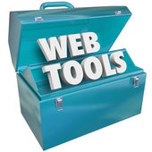 Web Tools Toolbox Online Website Developer Kit — Stock Photo