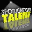 Stock Photo: Spotlight On Talent