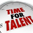 Stock Photo: Time for Talent