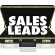 Sales Leads Briefcase — Stock Photo #41552495