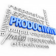 Stock Photo: Productivity Efficiency