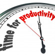 Stock Photo: Time for Productivity