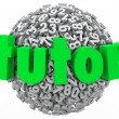 Tutor Number Ball — Stock Photo