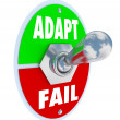 Adapt Vs Fail — Foto de stock #41559989