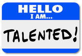 Hello I Am Talented — Foto Stock