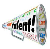Talent Bullhorn Megaphone — Stock Photo