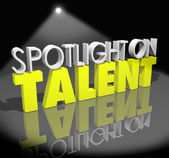 Spotlight On Talent — Stock Photo