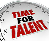 Time for Talent — Stock Photo