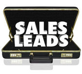 Sales Leads Briefcase — Stock Photo