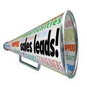 Sales Leads Megaphone — Stock Photo