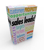 Sales Leads Box — Stock Photo