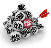 Sales Leads Pyramid Balls — Stock Photo