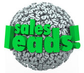 Sales Leads Dollar Sign — Stock Photo