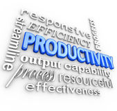 Productivity Efficiency — 图库照片