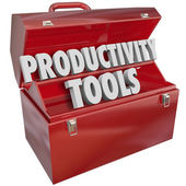 Productivity Tools Words — Stock Photo