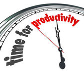 Time for Productivity — Stock Photo