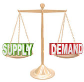 Supply and Demand Balance — Stock Photo