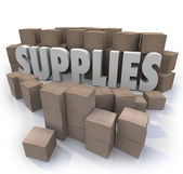 Supplies Cardboard Boxes — Stock Photo