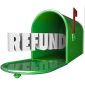 Refund Word — Stock Photo