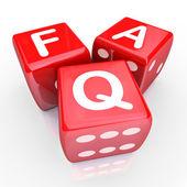 Preguntas más frecuentes — Foto de Stock