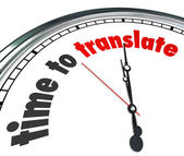 Time to Translate — Stock Photo