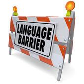 Barrera del lenguaje — Foto de Stock