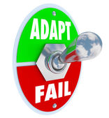 Adapt Vs Fail — Stock Photo