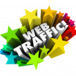 Stock Photo: Web Traffic