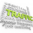 Stock Photo: Web Traffic 3D Word