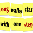 Stock Photo: Long Walks Start With One Steps