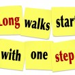 Long Walks Start With One Steps — Stock Photo #41560445