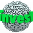 Invest Word Dollar — Foto Stock